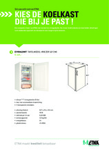 Product informatie ETNA vrieskast tafelmodel EVV0842WIT