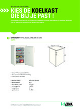 Product informatie ETNA vrieskast tafelmodel EVV0852WIT