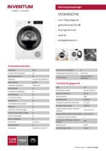 Product informatie INVENTUM droger warmtepomp VDW9001W