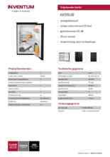 Product informatie INVENTUM koelkast KK550B