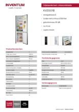 Product informatie INVENTUM koelkast KV2001B