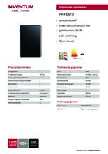 Product informatie INVENTUM koelkast RKK551B