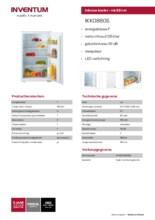 Product informatie INVENTUM koelkast inbouw IKK0880S