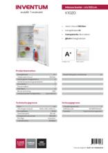 Product informatie INVENTUM koelkast inbouw K1020