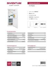 Product informatie INVENTUM koelkast wit KV1530
