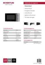 Product informatie INVENTUM magnetron MN205SZ