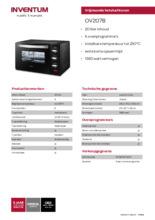 Product informatie INVENTUM oven OV207B