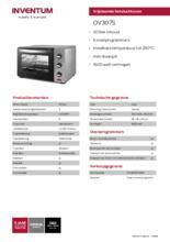 Product informatie INVENTUM oven OV307S