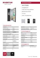 Product informatie INVENTUM side-by-side koelkast SKV1782BI