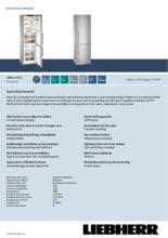 Product informatie LIEBHERR koelkast CBNES4875-20
