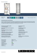 Product informatie LIEBHERR koelkast CBNES5775-20