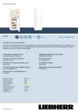 Product informatie LIEBHERR koelkast CP4313-22