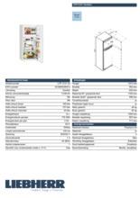 Product informatie LIEBHERR koelkast CTP2121-20