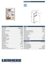 Product informatie LIEBHERR koelkast CTPsl2121-20