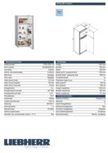 Product informatie LIEBHERR koelkast CTPsl2521-20