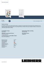 Product informatie LIEBHERR koelkast K2340-20