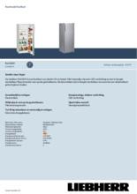 Product informatie LIEBHERR koelkast KEL2834-20
