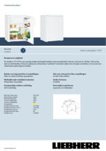 Product informatie LIEBHERR koelkast TP1744-20