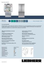 Product informatie LIEBHERR koelkast french door CBNes6256-25
