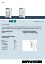 Product informatie LIEBHERR koelkast inbouw DRe4101-20