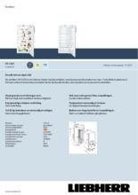 Product informatie LIEBHERR koelkast inbouw EK2320-21