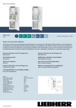 Product informatie LIEBHERR koelkast inbouw ICBNe5123-20