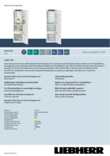 Product informatie LIEBHERR koelkast inbouw ICBd5122-20
