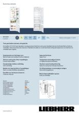 Product informatie LIEBHERR koelkast inbouw ICS3234-21