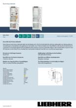 Product informatie LIEBHERR koelkast inbouw ICSe5122-20