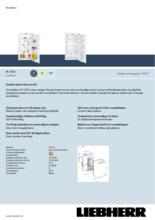 Product informatie LIEBHERR koelkast inbouw IK1920-21