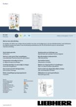 Product informatie LIEBHERR koelkast inbouw IK2360-21