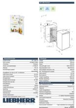 Product informatie LIEBHERR koelkast inbouw IKP1960-20