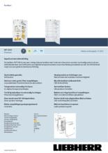 Product informatie LIEBHERR koelkast inbouw IKP2364-21