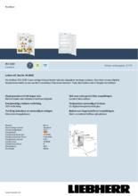 Product informatie LIEBHERR koelkast inbouw IKS1620-21