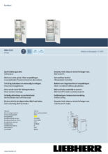 Product informatie LIEBHERR koelkast inbouw IRBd4150-20