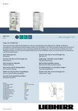 Product informatie LIEBHERR koelkast inbouw IRBd4520-20