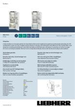 Product informatie LIEBHERR koelkast inbouw IRBd4550-20