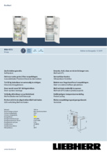 Product informatie LIEBHERR koelkast inbouw IRBd4551-20