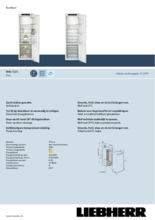 Product informatie LIEBHERR koelkast inbouw IRBe5121-20