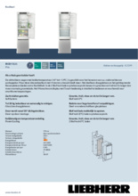 Product informatie LIEBHERR koelkast inbouw IRCBf5121-20