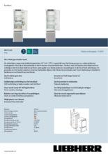 Product informatie LIEBHERR koelkast inbouw IRCf5121-20