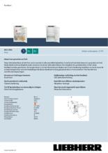 Product informatie LIEBHERR koelkast inbouw IRSf3900-20