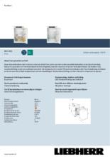 Product informatie LIEBHERR koelkast inbouw IRSf3901-20