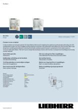 Product informatie LIEBHERR koelkast inbouw IRd3950-60