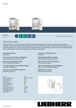 Product informatie LIEBHERR koelkast inbouw IRd3951-20