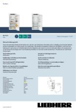 Product informatie LIEBHERR koelkast inbouw IRd4120-60