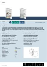 Product informatie LIEBHERR koelkast inbouw IRd4150-60