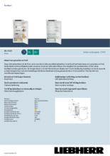 Product informatie LIEBHERR koelkast inbouw IRe4100-20