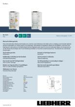 Product informatie LIEBHERR koelkast inbouw IRe4520-20