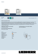 Product informatie LIEBHERR koelkast inbouw IRf3900-20